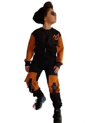 Riccotarz Erkek Çocuk Kemer Cepli 4lü Siyah Alt Üst Takım Renkli